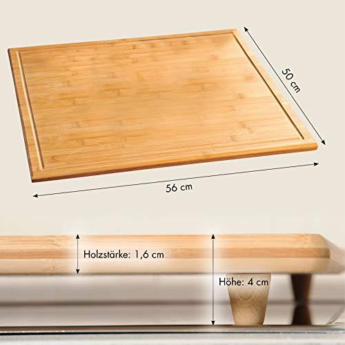 Kesper Schneide-/Abdeckplatte Bambus, Holz, Braun, cm, 56 x 50 x 4 cm - 6