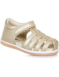 BOBUX - Chaussure Step Up I-Walk Skip dorée en cuir transpirant, extrêmement flexible, elle permet une croissance, Fille, Filles