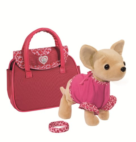 Simba 105897617 - Chi Chi Love Plüschhund Showstar mit Funktion 20 cm