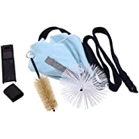 Andoer® Saxofón Sax Útiles de Limpieza Cork Grease Brush Cloth Thumb Rest Cushion Reed Case Cleaning Kit