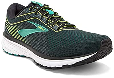 Brooks GHOST 12, Men's Running Shoes, Green (Black/Lime/Blue Grass 018), 10 UK