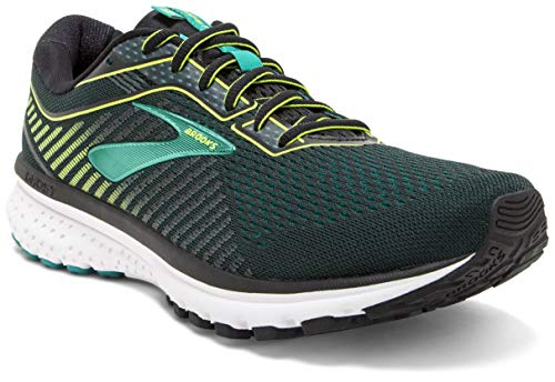 Brooks Ghost 12, Scarpe Running Uomo, Verde (Black/Lime/Bluegrass 018), 42.5 EU