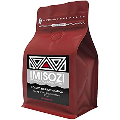 Imisozi | Premium Rwandan Mountain Coffee Beans | 250g Bag/Pouch | Whole Bean | 100% Roasted Pure Bourbon Arabica Coffee | Medium Roasted Filter Coffee by Chilli Mash Company Ltd