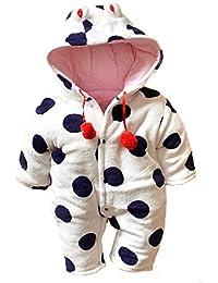 Y-BOA Hiver Ensemble Bébé Pyjama à Capuche Disney Mignon Velours Déguisement Rompers Chaud