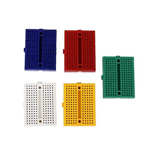 Leoboone SYB-170 Mini-Farb-Solderless Prototyp-Brotschneidebrett Protoboard PCB Universal-Circuit Test Brett DIY Tools Wiederverwendbare Brot-Brett