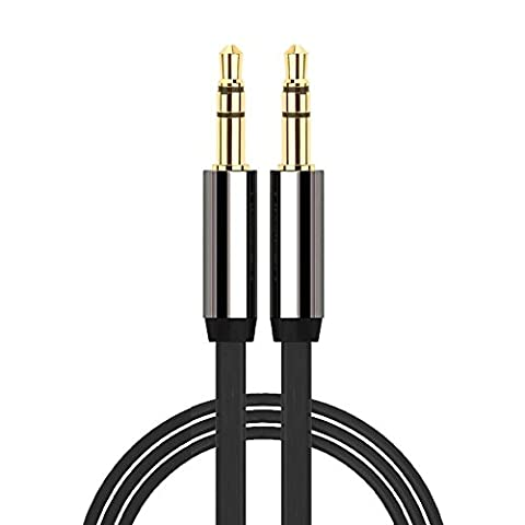3.5mm to 3.5mm GOLD AUX JACK CABLE LEAD IPOD AUDIO MP3 1m lead Length
