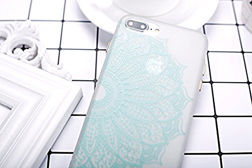 Felfy Silikon Case für iPhone 7 Plus Hülle,iPhone 7 Plus Luminous Cover Ultra Dünne Slim Silikon Etui Handy Hülle Weiche Transparente Luminous Gel TPU Back Case Leuchten In Der Nacht - Felfy Farbe Mus Verdicken Muster