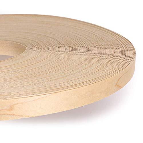 Natura Legno impiallacciatura di ferro su (HotMelt) Bordatura del bordo Dimensione 7.5 M * 22 MM, Acero Canadese, Grado superiore, Nastro di levigatura
