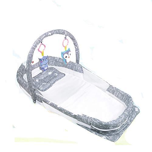 ltbares Co-Sleeping-Baby trennte Bett mit Kissen-Matratzen-Blatt-Hängespielzeug-Nest-Stubenwagen für Bett Tragbare Baumwollkrippe für Schlafzimmer-Reise trennte Bett mit dem Musik- ()