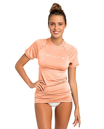 RIP CURL Sunny Rays Relaxed S/SL Lycra Damen XS pfirsich