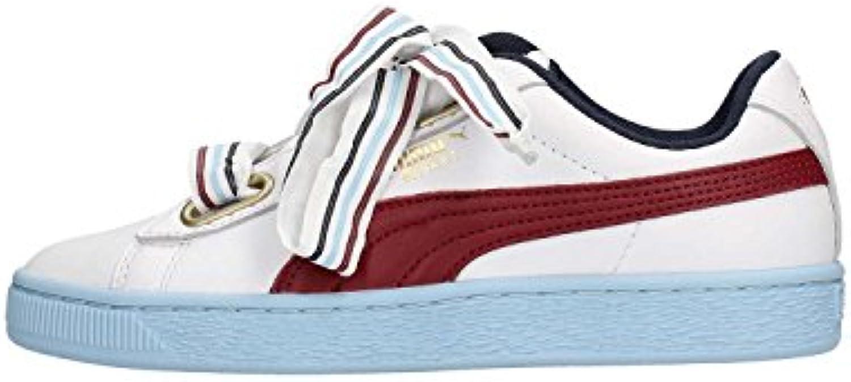Puma scarpe da ginnastica Basket Heart New School Wn Bianco VINACCIO Celeste 367734-01 (39 - Bianco) | Dall'ultimo modello  | Gentiluomo/Signora Scarpa