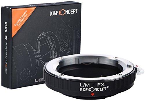 K&F Concept LM-FX Objektiv Adapter Fuji X-Mount FX FujiX Xmount x-Series Kamera Kameras Leica-M LM L/M - Contax Leica M