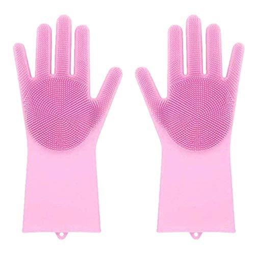 Magic Saksak silicone resistente al calore Dishwashing Gloves Amytrade riutilizzabile spazzola di pulizia scrub guanto di goa per detersivo pulizia