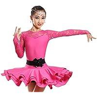 ZYLL Abiti,Vestito da Ballo Latino per Bambini Costumi di Prestazione di  Danza Esercizi di b4ac2d20976d