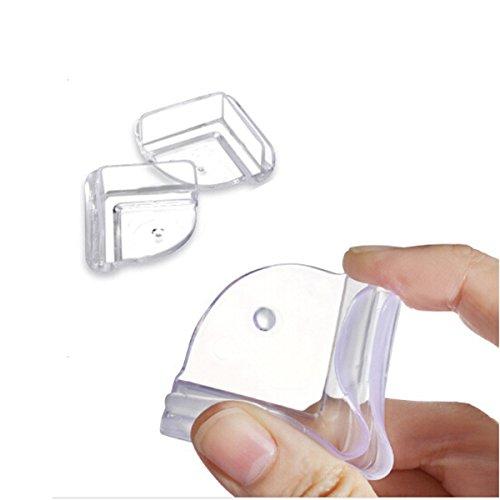 WINOMO Babys Schutz Kantenschutz Eckenschutz Tisch Kissen Tisch-Eckschutz Silikon Stoßschutz - 4 Stücke