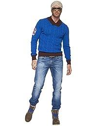 Nebulus Pullover Cable - Chaqueta de esquí para hombre, color cobalto, talla S