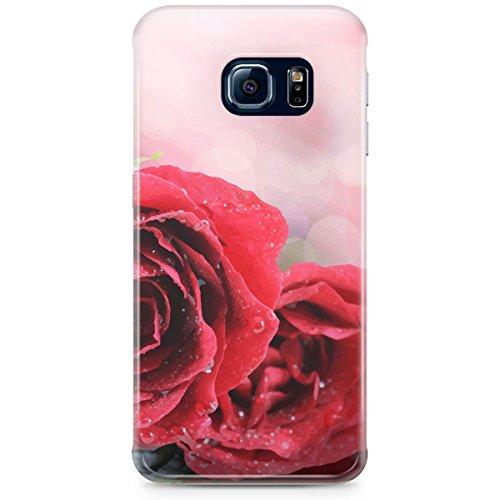 Queen Of Cases Coque pour Apple iPhone 6Plus/6S Plus-Rouge Roses Bokeh-Premium en plastique rouge
