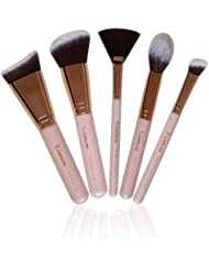 Contour Brush Set - Synthetic Sculpting and Highlighting Kit - Cream Blush Powder Flat Nose Round Small Angled Fan Tapered Precision Powder Kabuki Foundation Contouring Makeup Brushes