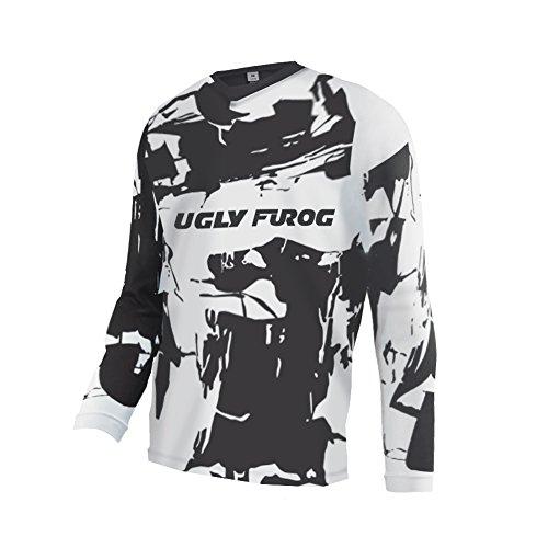 Uglyfrog Bike Frühjahr Wear Long Sleeve Jersey Frühlingsart MTB Motocross Jersey Herren Mountain Bike Downhill Shirt Sportbekleidung Kleidung