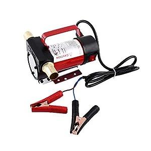 Ejoyous Kraftstoffpumpen 12 V Elektrische Ölpumpe Dieselpumpe Öltransferpumpe Pumpflüssigkeit 12V 160W 40L / min für Großes Auto
