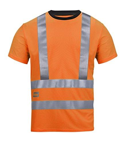 Snickers 2543 High-Vis A.V.S. T-Shirt, Klasse 2/3 Orange