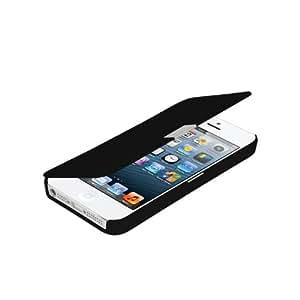 Open Buy SSMoviles Housse de protection avec rabat pour iPhone 5/5s avec fermeture Noir/argenté