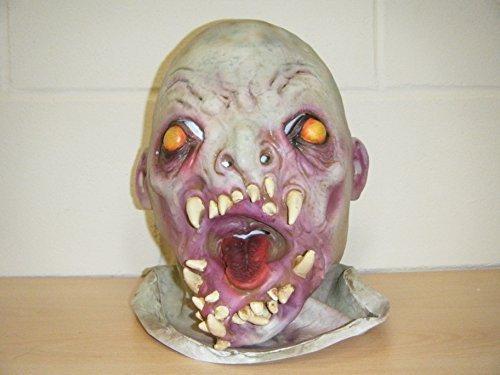 Zombie Monster Schädel Deluxe Latex Horror Halloween Kostüm (Kostüme Custom Wrestling)