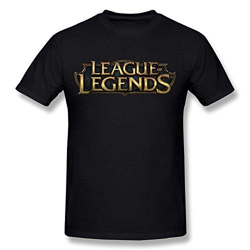 PASSION Men's League Of Legends T-shirt Black XLarge