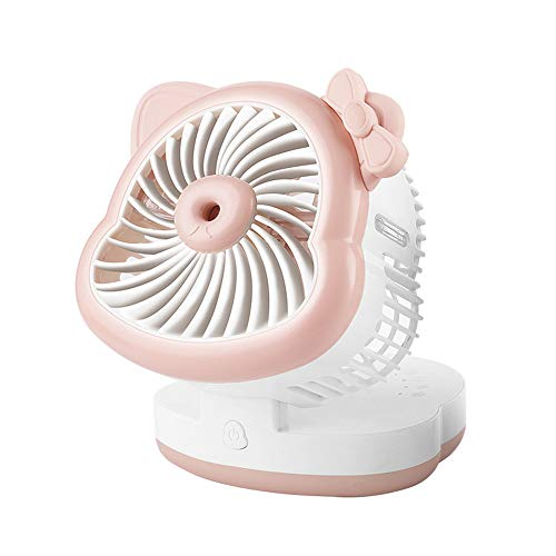 Tragbarer Lüfter, Chshe, Usb-Desktop-Aerosolkühlung, Luftbefeuchter Mit Klimaanlage, Mini, Leichtgewicht, Leicht Zu Tragen, (Pink)
