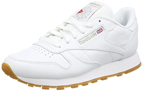 Reebok Women's Classic Leather Low-Top Sneakers, White (Int-White/Gum), 6 UK