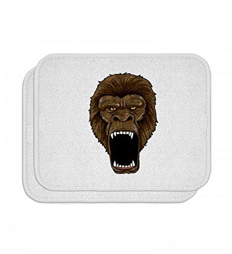 Hochwertige Automatten - Gorilla On Rampage - Affe Primat Zoo Alphatier Wut Safari Zootier Silberrücken ()