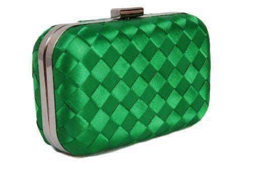 Vivid , Damen Clutch Grün grün One Size (Clutch Frame Handtasche Satin)