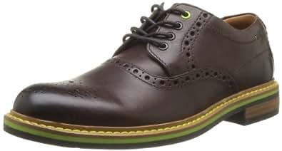 Clarks Darby Style 203584907, Herren Schnürhalbschuhe, Braun (Brown Leather), EU 39.5