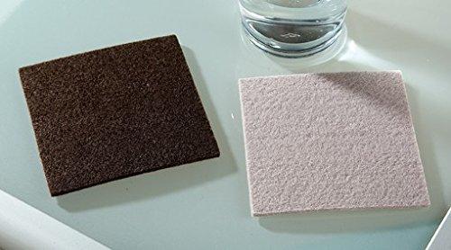 Filzuntersetzer quadratisch Filz Untersetzer 4er Set Gilde, Varianten:quadratisch grau
