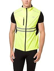 Ultrasport Flashlight - Chaleco reflectante unisex, color amarillo, talla L
