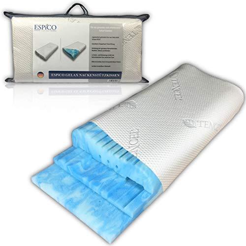 ESPiCO Nackenstützkissen höhenverstellbar Seitenschläfer Rückenschläfer Kissen Atmungsaktive Naturfaser Tencel®