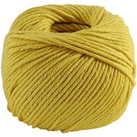 DMC-Filato di Natura, in puro cotone, colore: giallo, taglia: M