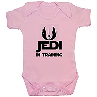 Acce Products Jedi in Training Baby Bodysuit/Romper/Vest/T-Shirt - 0-3 Months - Pink