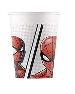 Procos 90949 - Vasos de cartón (200 ml, 8 Unidades), diseño de Spiderman