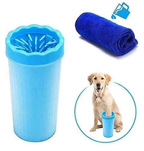 LUCUY Petware - Limpiador portátil para Patas de Perro, Ideal para Perros Activos o días de Lluvia