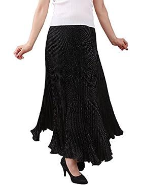 malito verano falda con cinturón tramo midi mini A-línea 8220 Mujer Talla Única