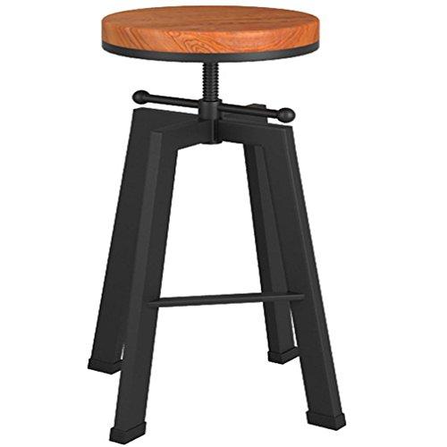 Preisvergleich Produktbild Heruai Massivholz antike Dreh Sessellifts Barhocker tun die alten schmiedeeisernen lässige Bar Stühle