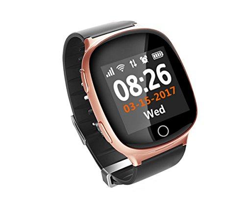 ORIGINAL FAIRTEK Pro-Mobile F66 GPS Notrufuhr, Notruf-Uhr, GPS,A-GPS,WiFi-Ortung, 2-Wege Telefongespräche,Ortungs-Portal inbegriffen (ROSEGOLD)