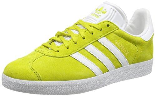 adidas Gazelle, Baskets Basses Mixte Adulte, Taille Unique Jaune (Unity Lime/White/Gold Met)