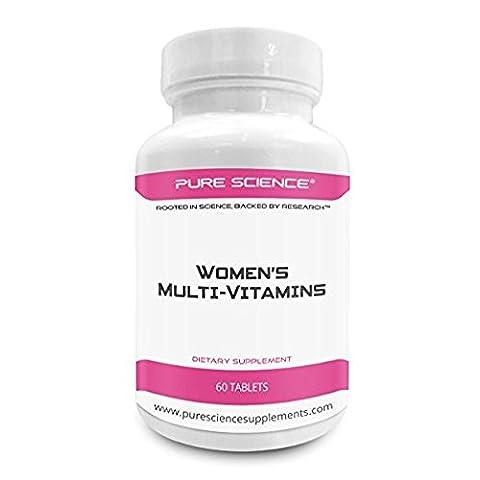 Pure Science Frauen Multivitamin - verbessert die Immunabwehr, Durchblutung und Versorgung, Angst & Gesundheit - Gesamt Ihre weiblichen Multivitaminpräparat - 60 Multi - Vitamine Tabletten