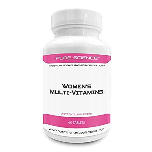 Pure Science Frauen Multivitamin - verbessert die Immunabwehr, Durchblutung und Versorgung, Angst & Gesundheit - Gesamt Ihre weiblichen Multivitaminpräparat - 60 Multi - Vitamine Tabletten (Flüssige Vitamine Multi)