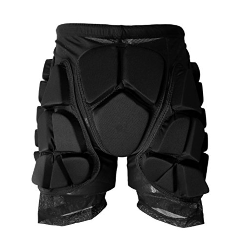 Sharplace Skiing Skating Snowboard Winter Sport Protective Gear Hip Padded Shorts for Kids Men Women - L