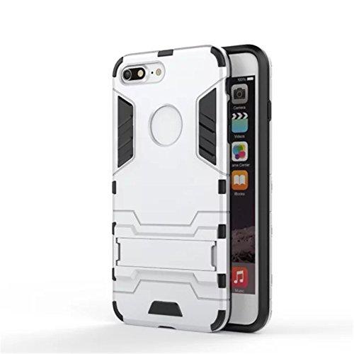 Tianyan Coque iPhone 7 Armor Séries Silicone Antichoc avec Béquille Housse Etui pour Apple iPhone 7 - rouge argent