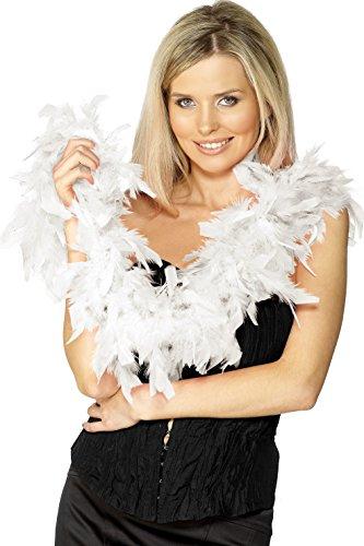 Preisvergleich Produktbild Smiffys Damen Federboa,  Länge: 150 cm,  50 g,  Weiß,  30865