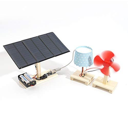 0Miaxudh Physikalisches Spielzeug, Mini Solarkraftwerk Station Modell, DIY Studenten aus Holz physikalische Wissenschaft Spielzeug